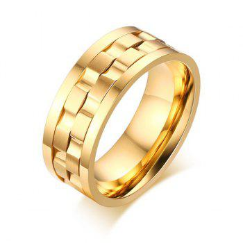 Stainless Steel Finger Fidget Ring - GOLDEN 8