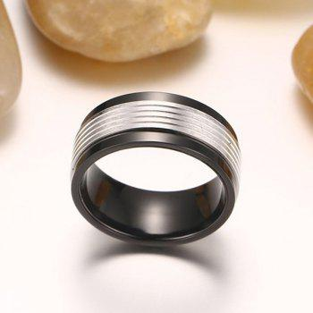 Stainless Steel Fidget Spinner Finger Ring - BLACK BLACK