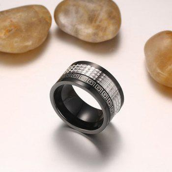 Fret Pattern Finger Fidget Spinner Ring - Noir 10