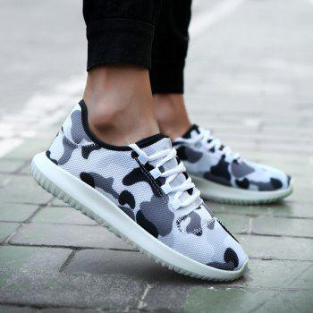 Multicolor Printed Breathable Athletic Shoes