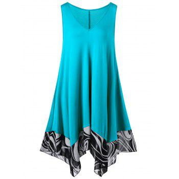 Plus Size Handkerchief Mini Dress