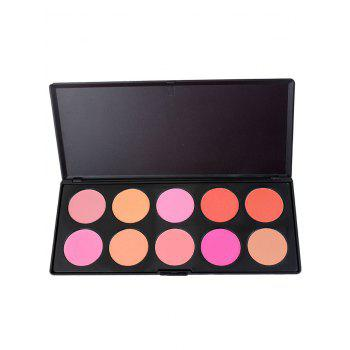 10 Colors Matte Makeup Cosmetic Blush Palette - COLORFUL