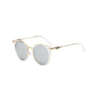 Retro Cat Eye Mirror Reflective Round Sunglasses
