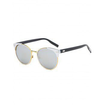 Cat Eye Vintage Round Mirror Sunglasses