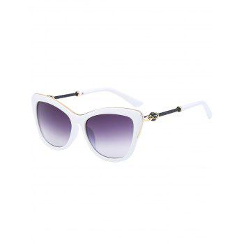 Anti UV Metallic Inlay Frame Butterfly Sunglasses