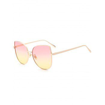 Wide Cat Eye Gradient Color Sunglasses