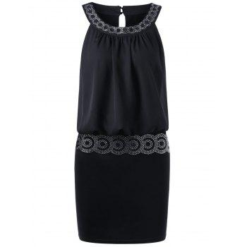 Sequined Embellished Mini Blouson Club Dress