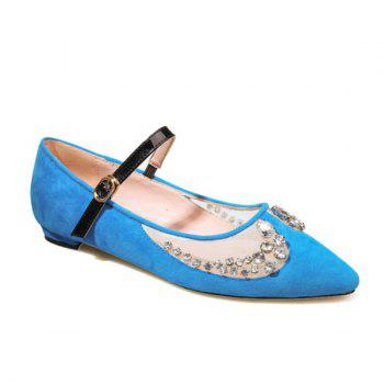 Diamante Pointed Toe Sheer Flat Shoes