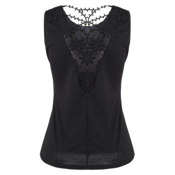 Back Lace Tank Top