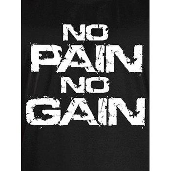 No Pain No Gain Bodybuilding Tank Top - WHITE/BLACK WHITE/BLACK