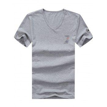 V Neck Graphic Printed Tee