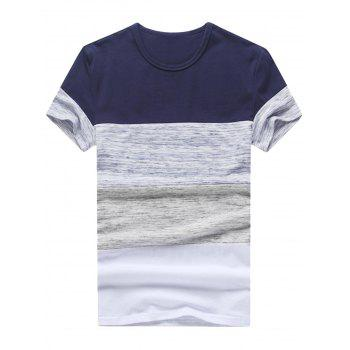 Space Dyed Panel Color Block Tee