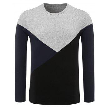 Color Block Panel Long Sleeve Tee