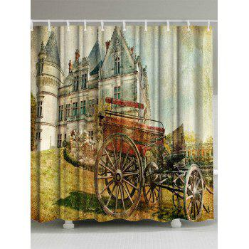 Oil Painting Fabric Bathroom Decor Shower Curtain