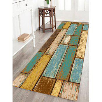 Vintage Wood Floor Pattern Water Absorption Area Rug