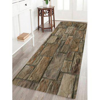 Vintage Stone Floor Pattern Indoor Outdoor Area Rug