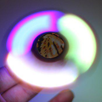 Plastic Patterned Fidget Spinner with Flashing LED Lights -  LEOPARD