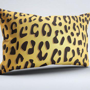 Brushed Fabric Leopard Print Pillow Case