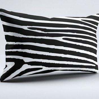 Brushed Fabric Pillow Case with Zebra Stripe