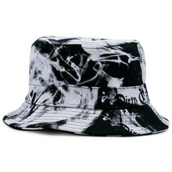 Smoke-Filled and Letter Print Bucket Hat