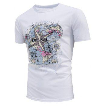Map Print Encounter Sun Change Color T-shirt