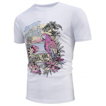 Beach Parrot Print Color Changing T-shirt