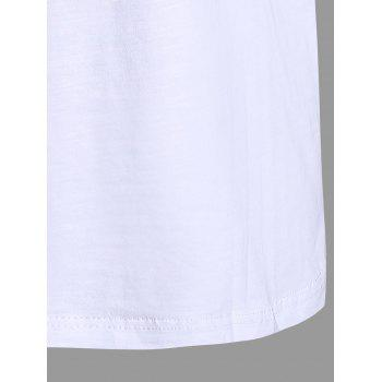 Plus Size Great Day Letter Simple Tank Top - WHITE 2XL