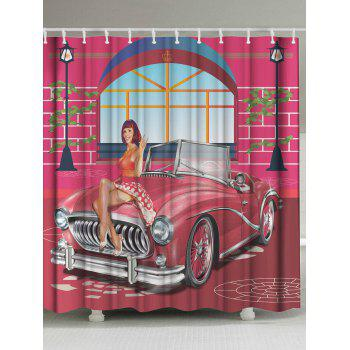 Unique Beauty Car Water Resistant Shower Curtain