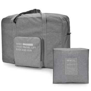 Large Capacity Folding Travel Bag -  GRAY