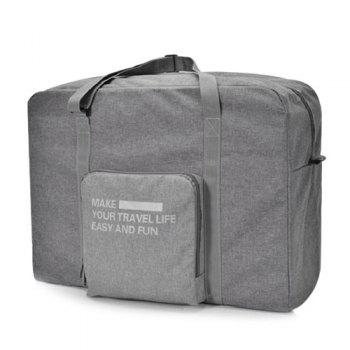 Large Capacity Folding Travel Bag - GRAY GRAY