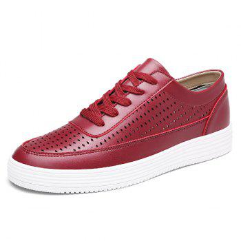 Chaussures Casual Leather Faux Leather - Rouge Foncé 42