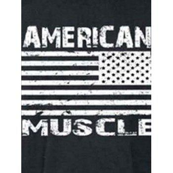Workout Muscle Patriotic American Flag Tank Top - DEEP GRAY XL