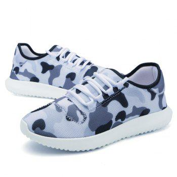 Multicolor Printed Breathable Athletic Shoes - WHITE 40
