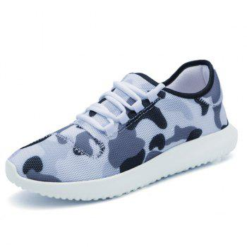Multicolor Printed Breathable Athletic Shoes - WHITE 43