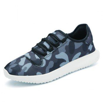 Multicolor Printed Breathable Athletic Shoes - BLACK GREY 41