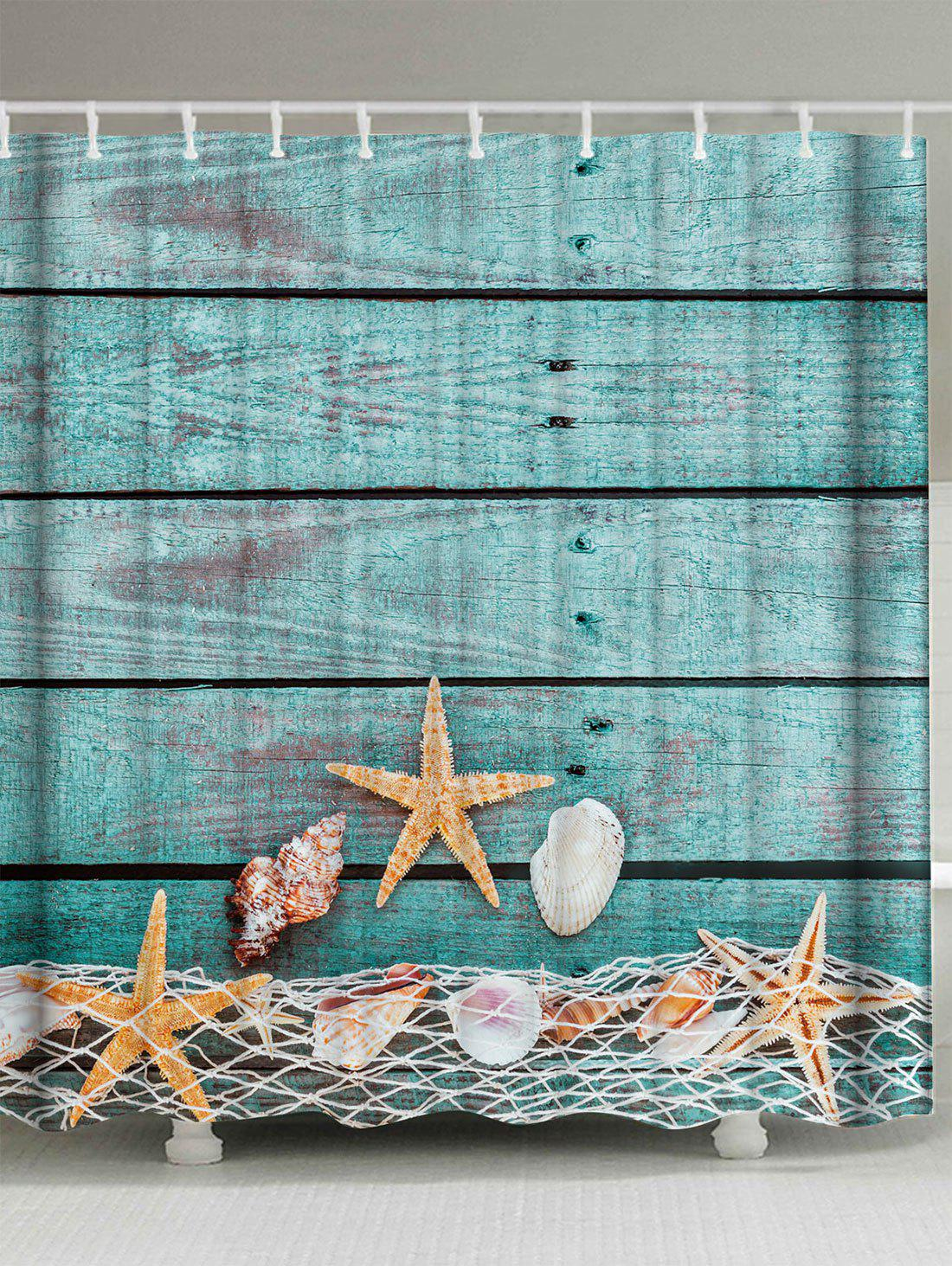 Extra Long Starfish Shell Bathroom Shower Curtain zoobles twobles starfish