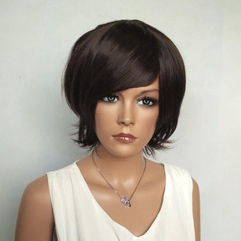 Short Shaggy Side Bang Glossy Straight Synthetic Wig new original 516 371 g e4 c s4 00 2 warranty for two year