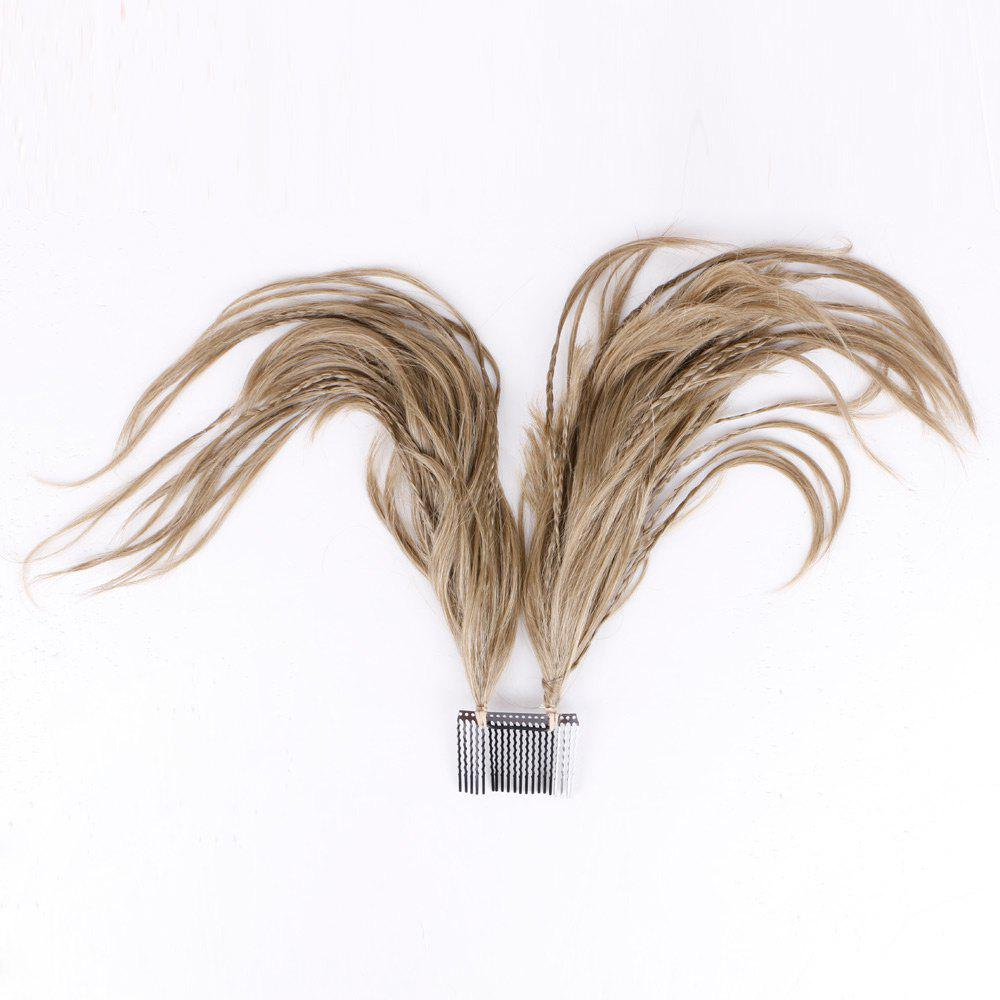 Inserted Micro Braids Short Straight Hair Pieces - TAUPE