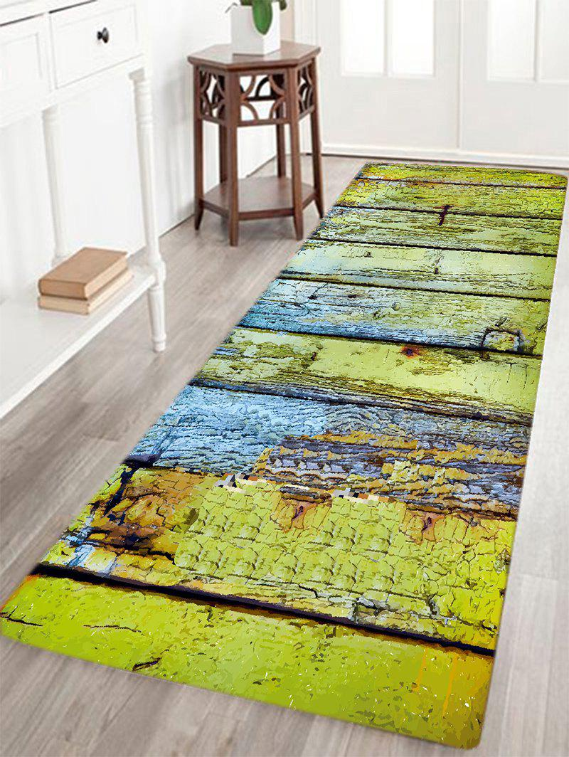 2018 corroded wood floor pattern indoor outdoor area rug for Indoor outdoor wood flooring