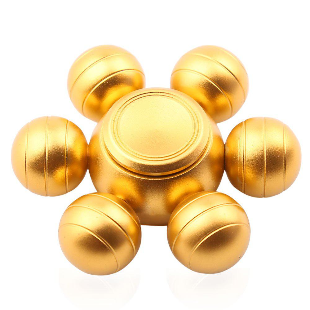 Six-ball Fidget Metal Spinner Fiddle Toy - Or