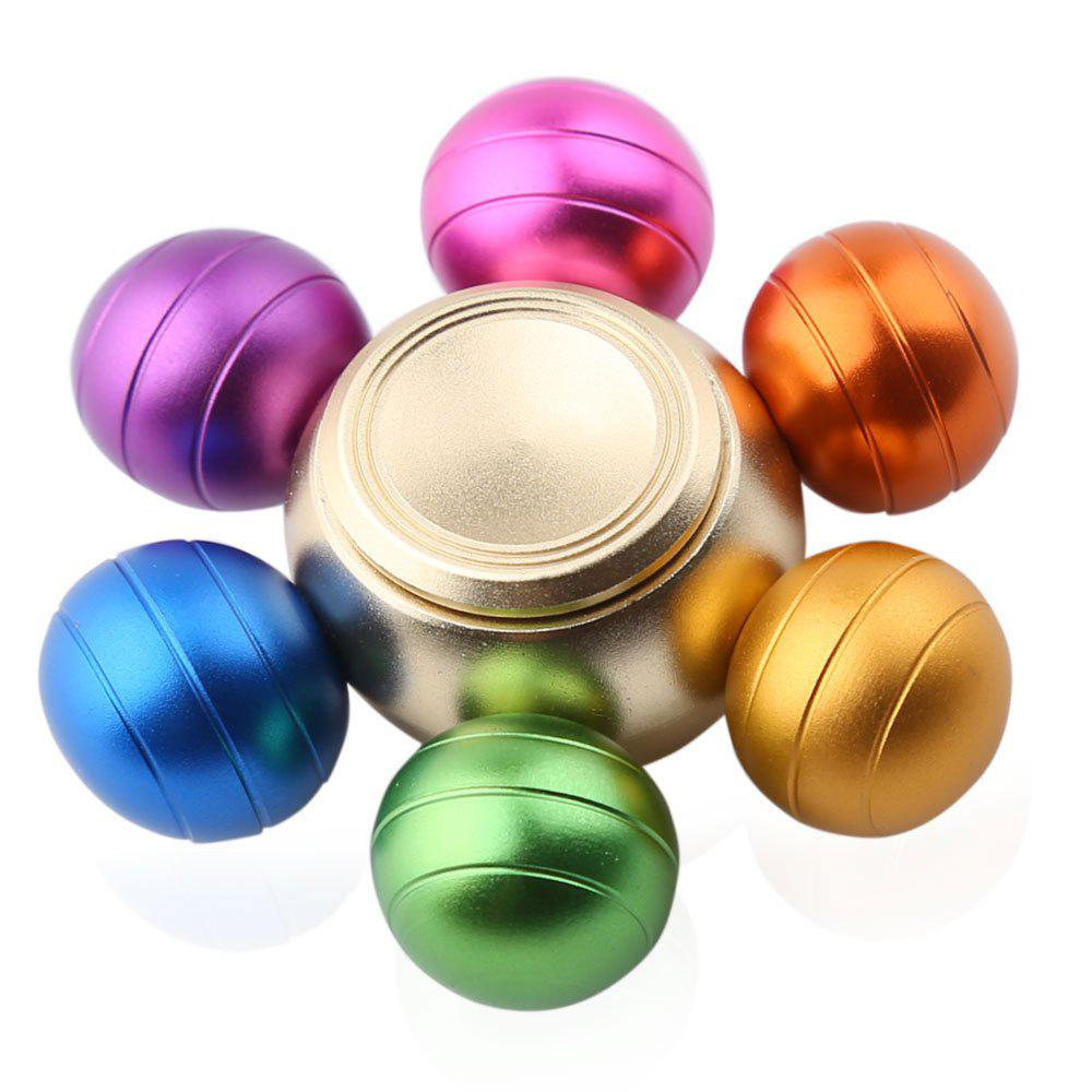 Six-ball Fidget Metal Spinner Fiddle Toy 10pcs 5x10x4mm metal sealed shielded deep groove ball bearing mr105zz