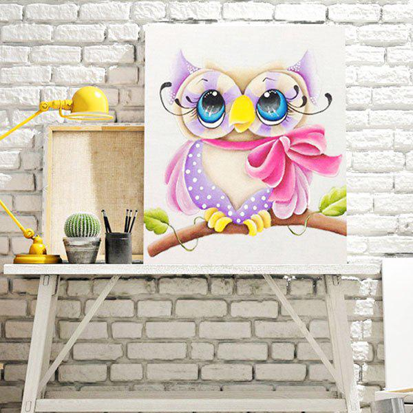 Cartoon Shy Eagle DIY 5D résine Diamond Paper Painting - multicolorcolore
