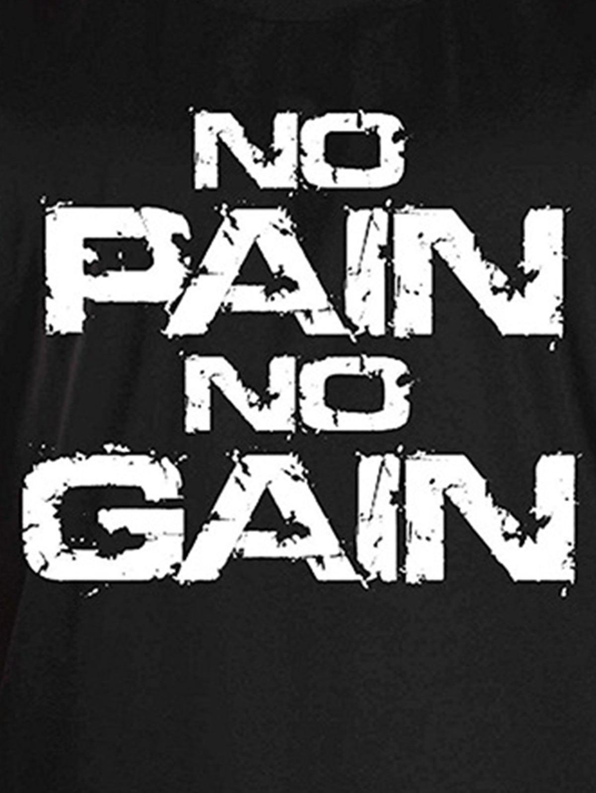 No Pain No Gain Bodybuilding Tank Top - WHITE/BLACK XL