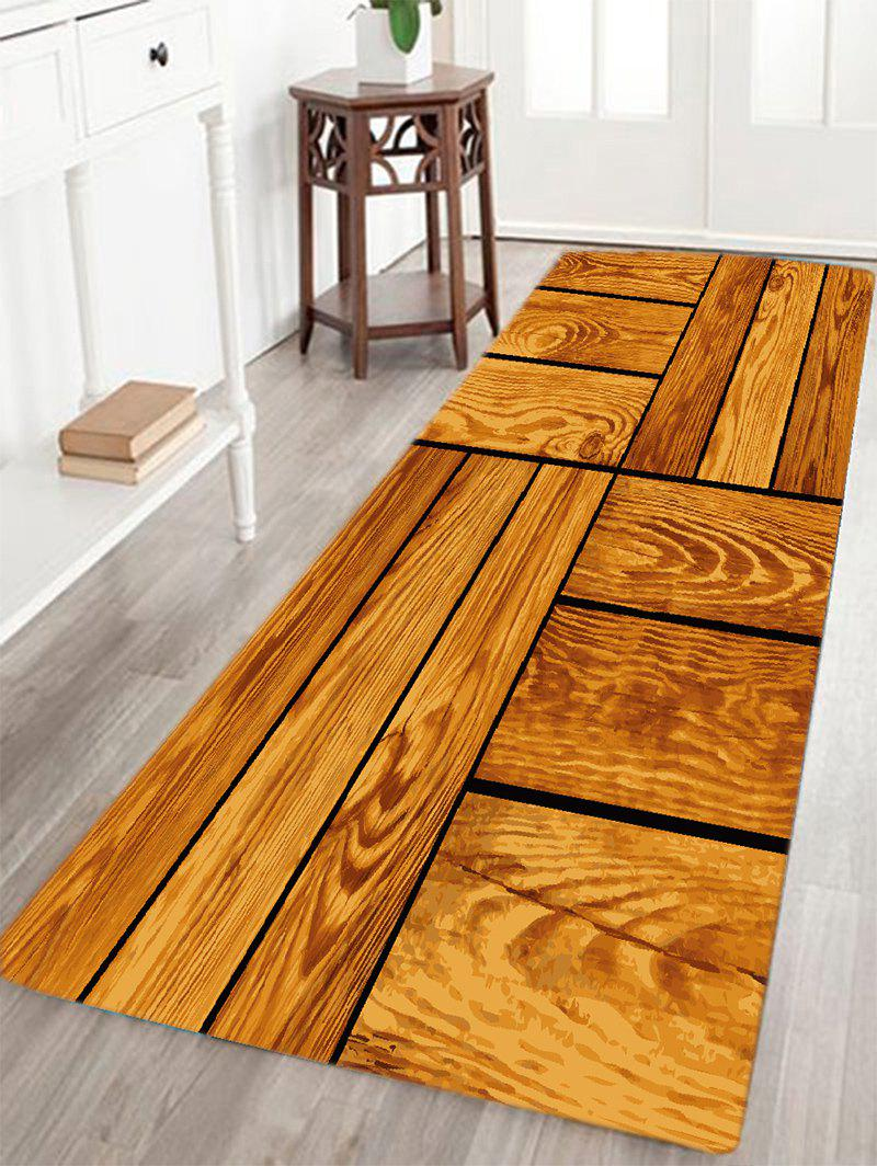 Wood floor pattern indoor outdoor area rug brown w inch for Indoor outdoor wood flooring