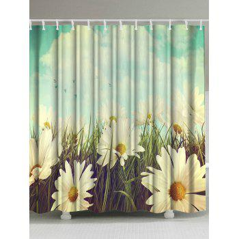 Thicken Anti-bacteria Pastoral Flower Shower Curtain