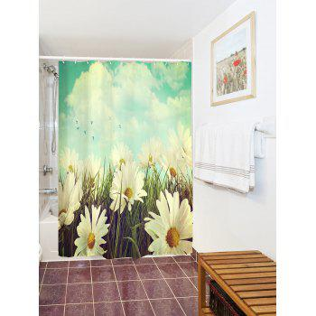 Thicken Anti-bacteria Pastoral Flower Shower Curtain - COLORMIX W71 INCH * L79 INCH