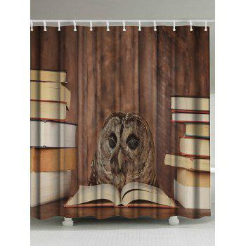 Eco-Friendly Owl Doctor Fabric Shower Curtain