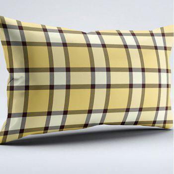 Plaid Print Bedroom Brushed Fabric Pillow Case