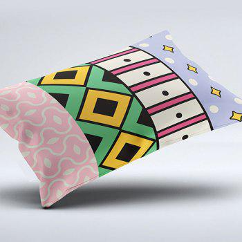 Vintage Geometric Print Brushed Fabric Bedroom Pillow Case - W20 INCH * L36 INCH W20 INCH * L36 INCH