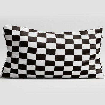 Plaid Double Side Print Brushed Fabric Pillow Case - W20 INCH * L36 INCH W20 INCH * L36 INCH